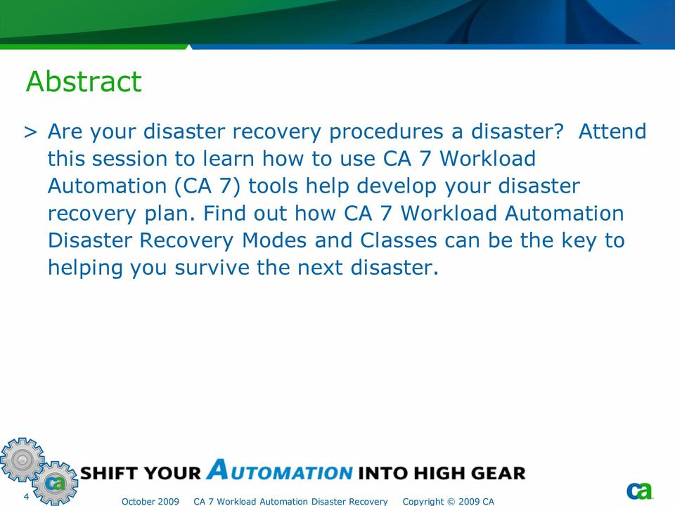help develop your disaster recovery plan.