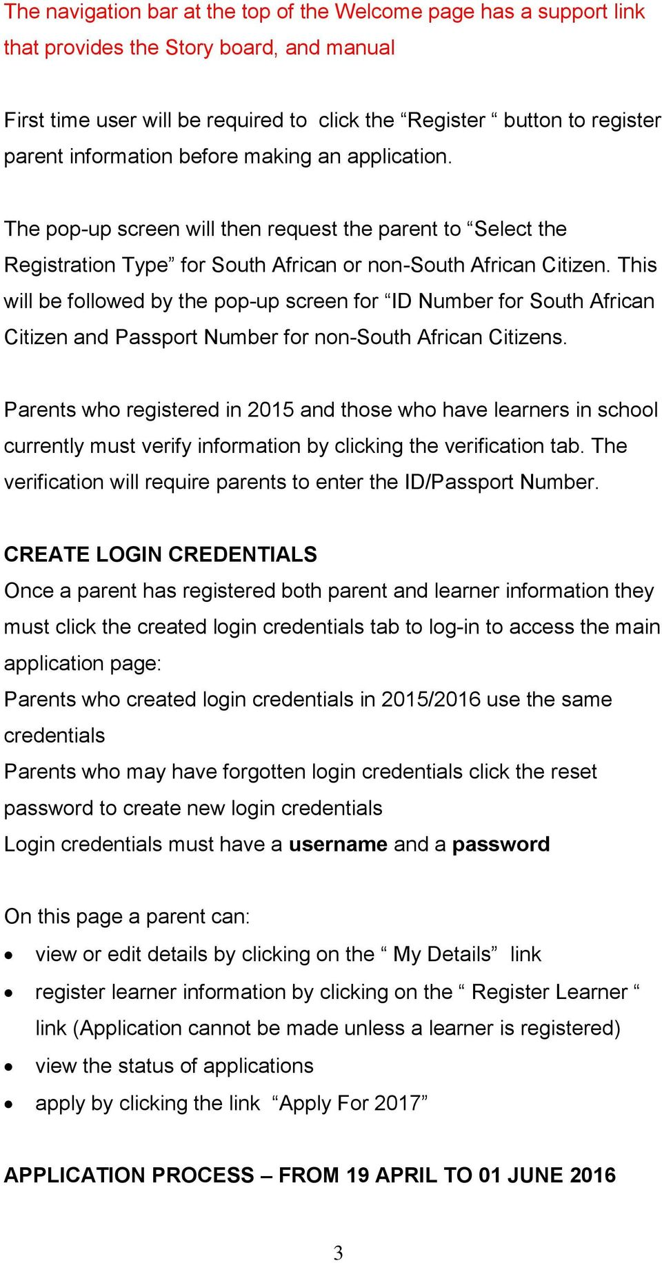 This will be followed by the pop-up screen for ID Number for South African Citizen and Passport Number for non-south African Citizens.