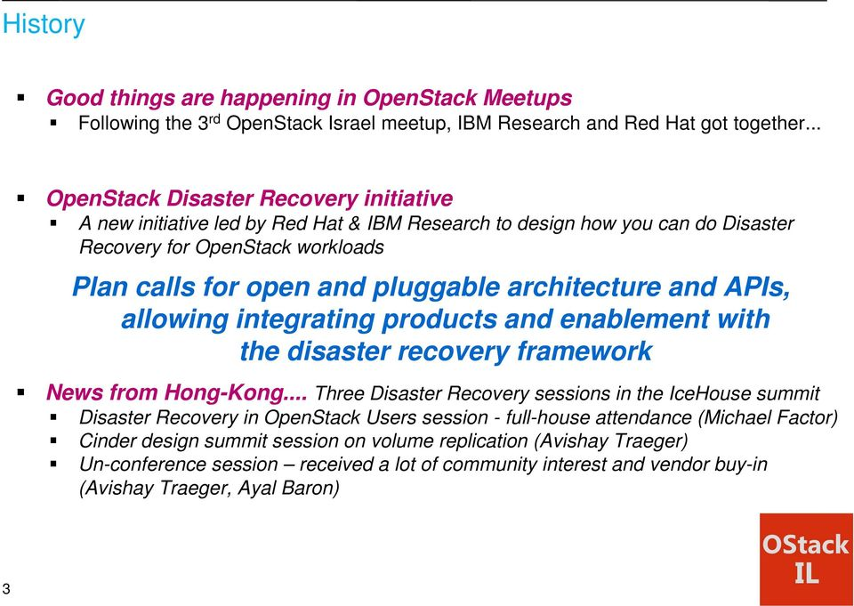 architecture and APIs, allowing integrating products and enablement with the disaster recovery framework News from Hong-Kong.