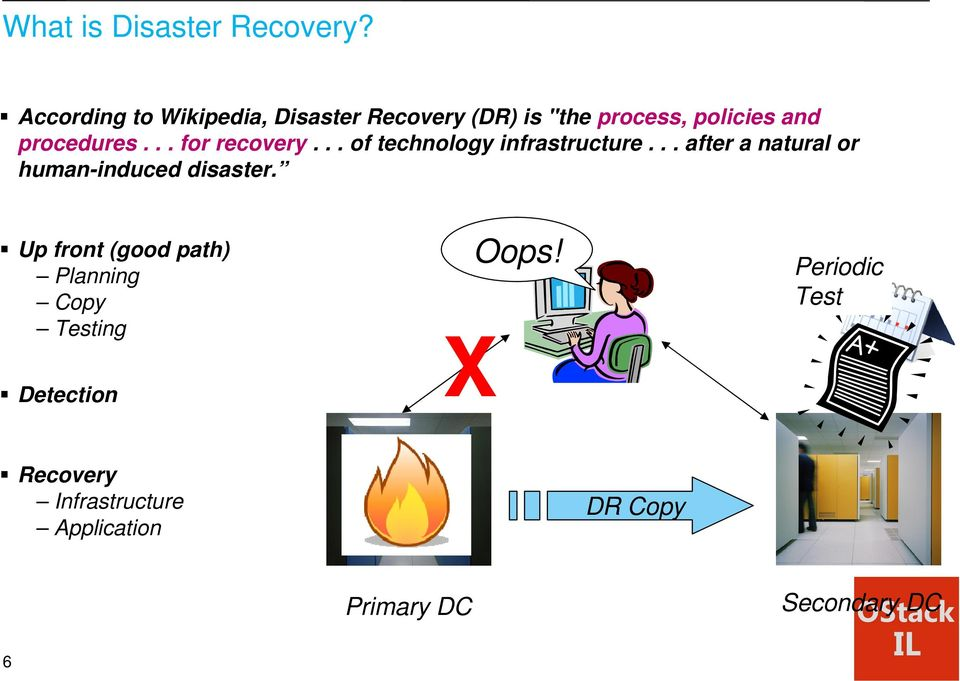 .. for recovery... of technology infrastructure.