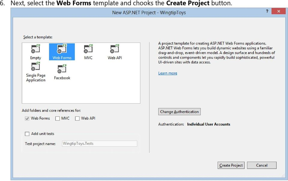 how to create the web page in asp.net
