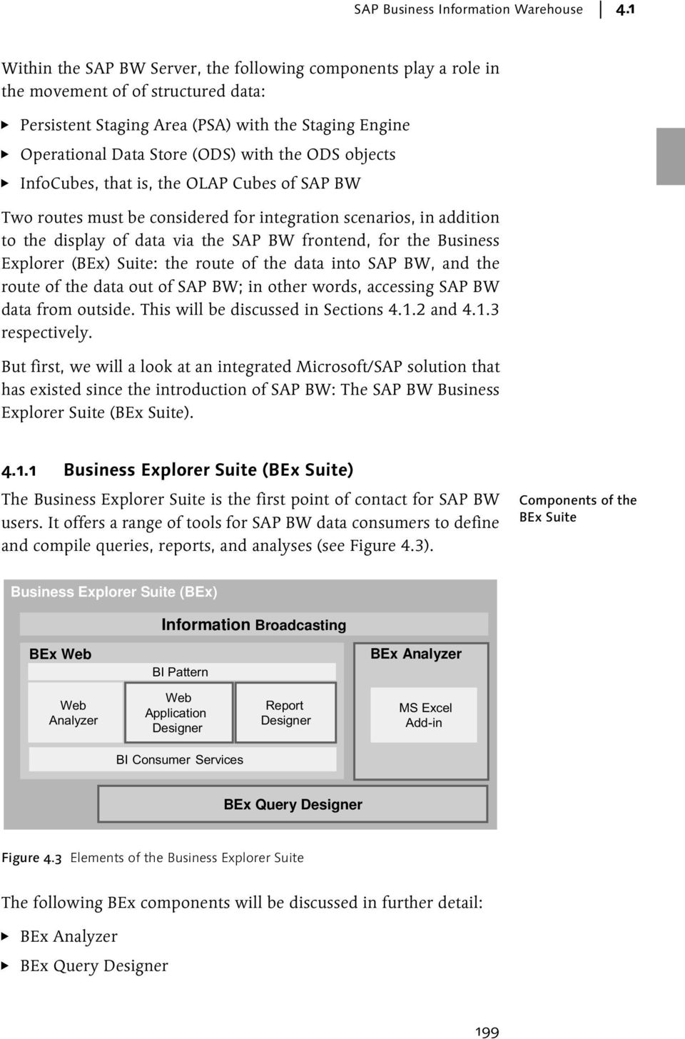 objects InfoCubes, that is, the OLAP Cubes of SAP BW Two routes must be considered for integration scenarios, in addition to the display of data via the SAP BW frontend, for the Business Explorer