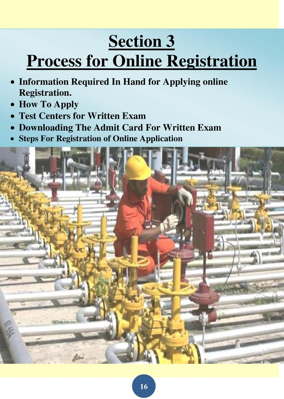 How To Apply Test Centers for Written Exam Downloading The