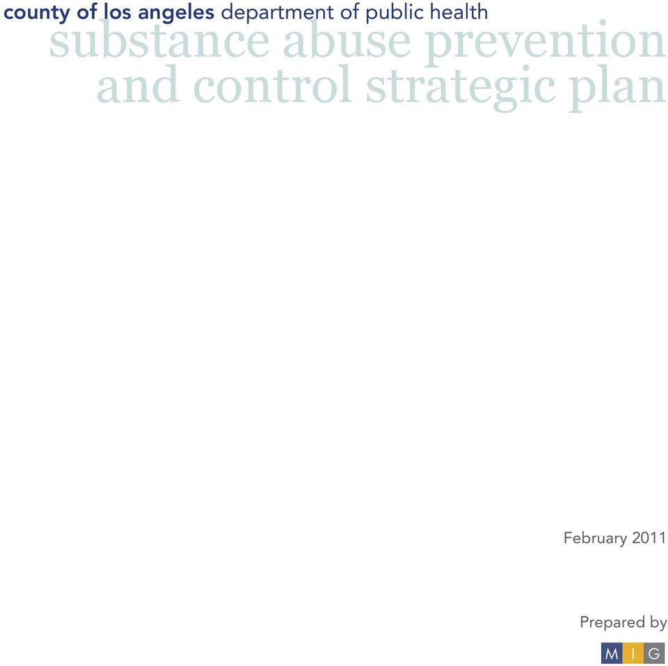 prevention and control strategic