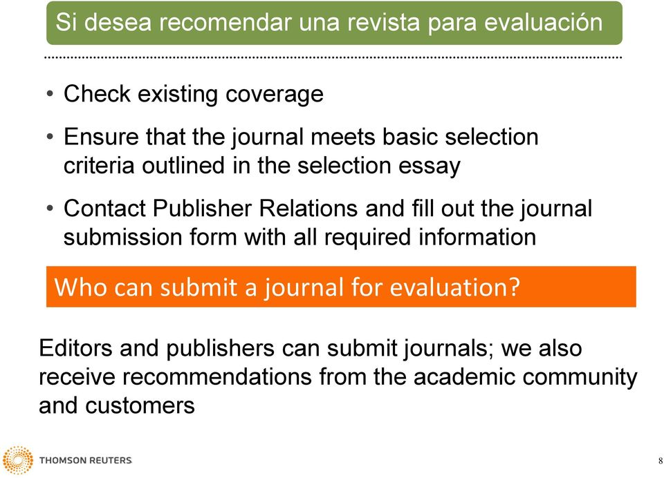 journal submission form with all required information Who can submit a journal for evaluation?