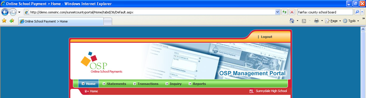 Login to Portal Open your internet browser and enter the web address of the OSP Management Portal (osp. osmsinc.