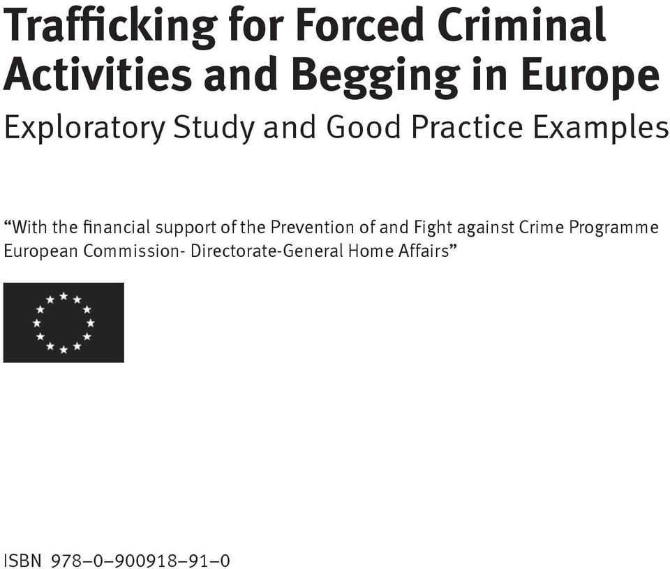 support of the Prevention of and Fight against Crime Programme