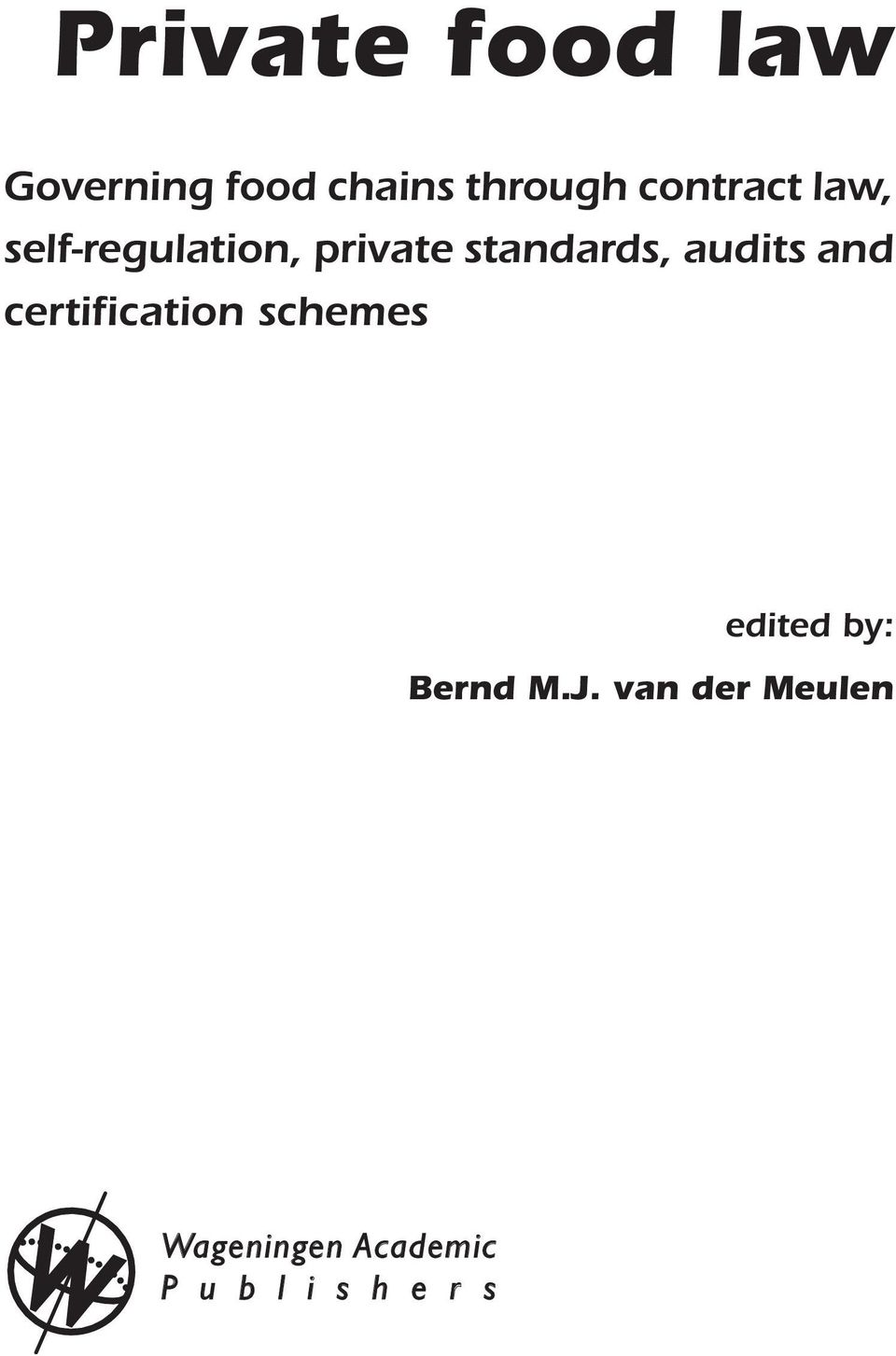 audits and certiication schemes edited by: Bernd M.
