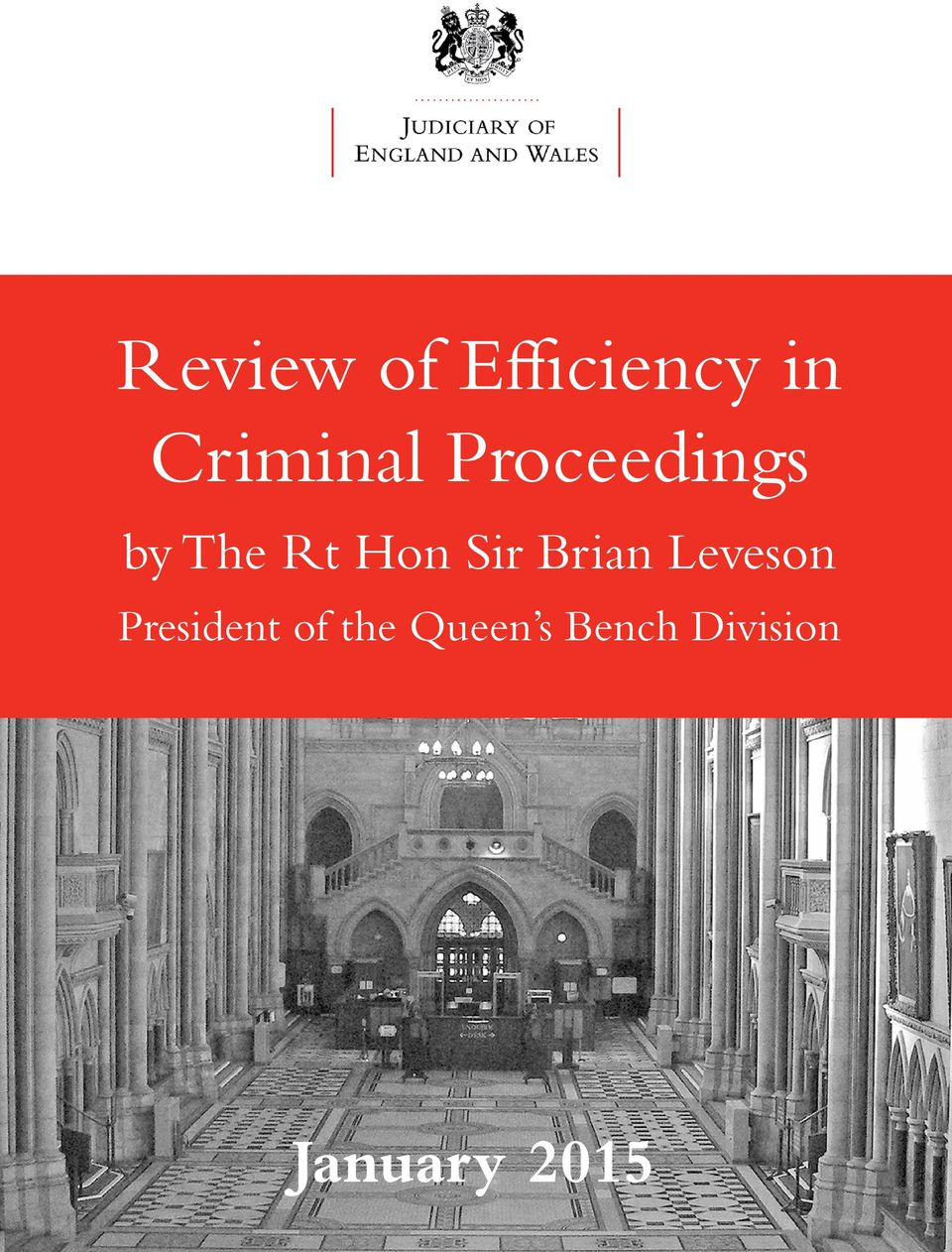 Brian Leveson President of the
