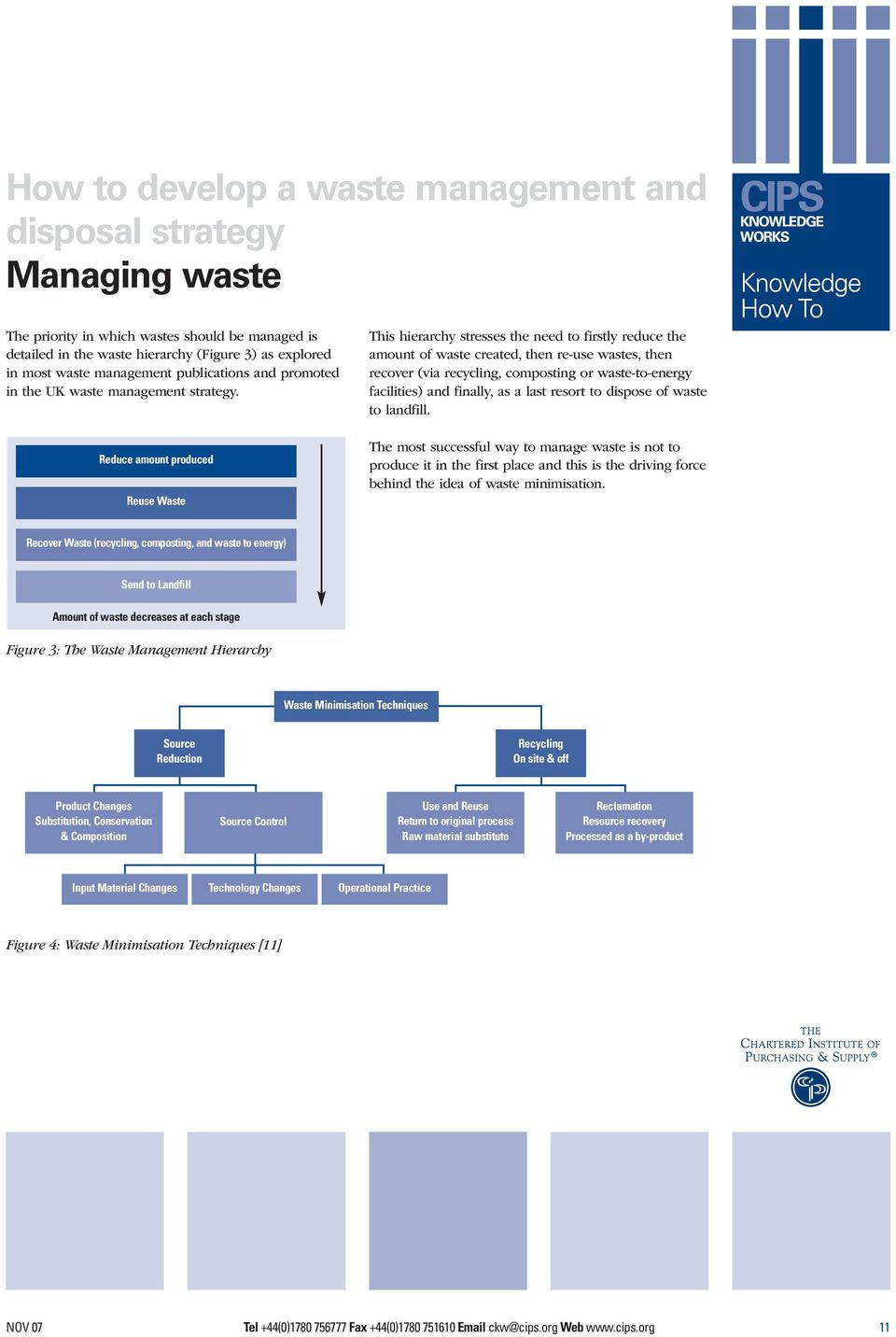 Reduce amount produced Reuse Waste This hierarchy stresses the need to firstly reduce the amount of waste created, then re-use wastes, then recover (via recycling, composting or waste-to-energy