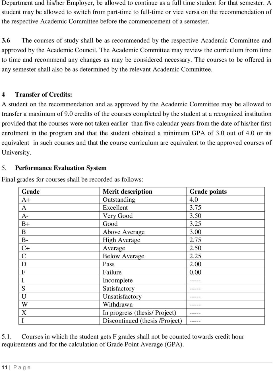 6 The courses of study shall be as recommended by the respective Academic Committee and approved by the Academic Council.