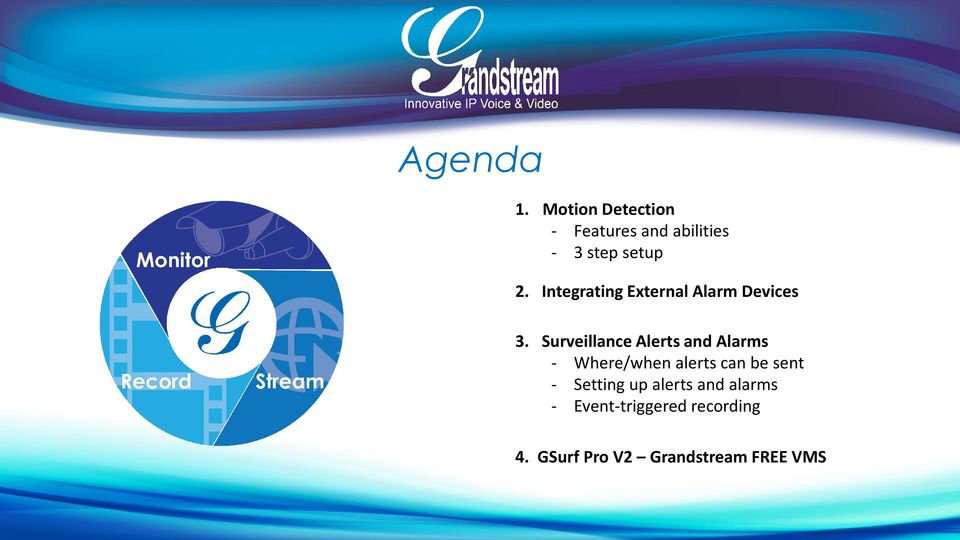 Integrating External Alarm Devices 3.