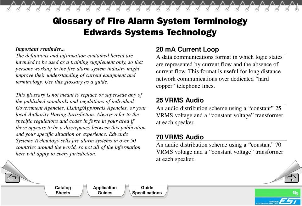 of current equipment and terminology. Use this glossary as a guide.