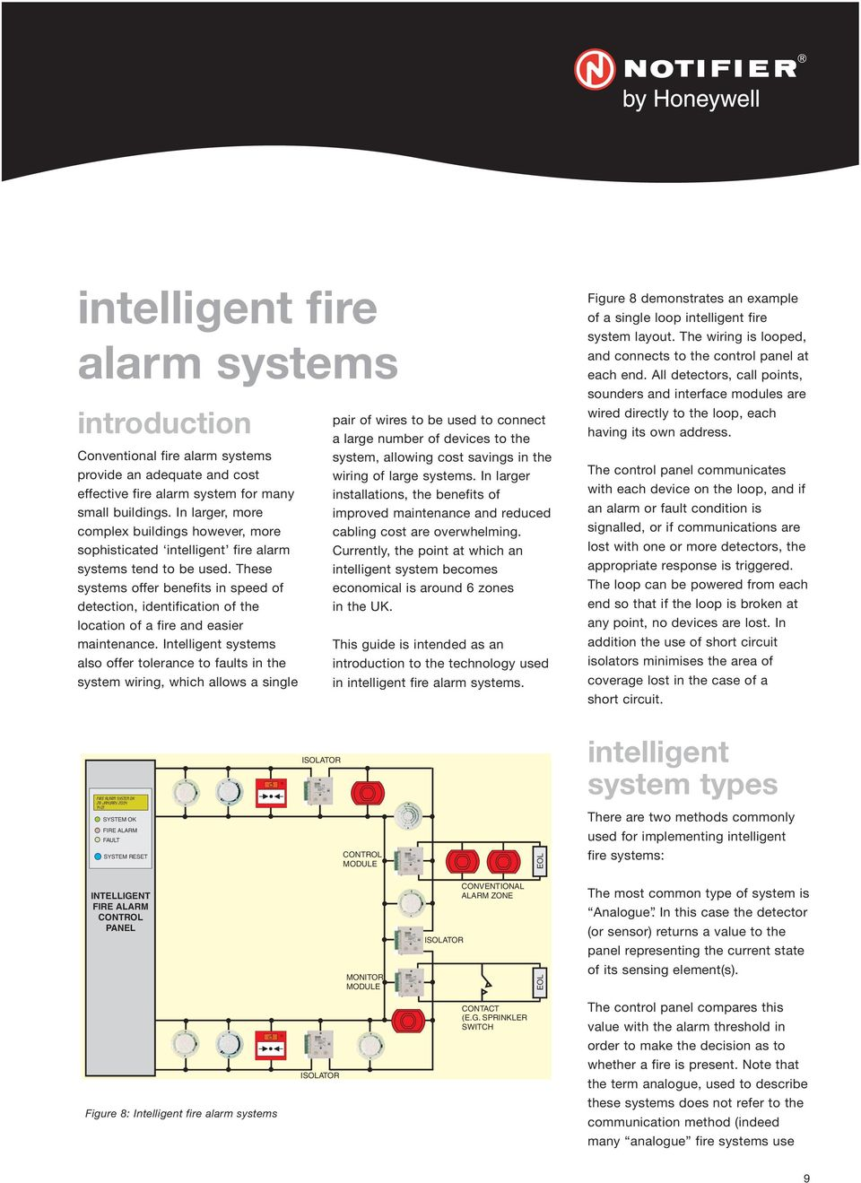 These systems offer benefits in speed of detection, identification of the location of a fire and easier maintenance.
