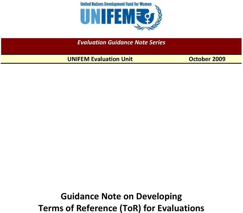 2009 Guidance Note on Developing