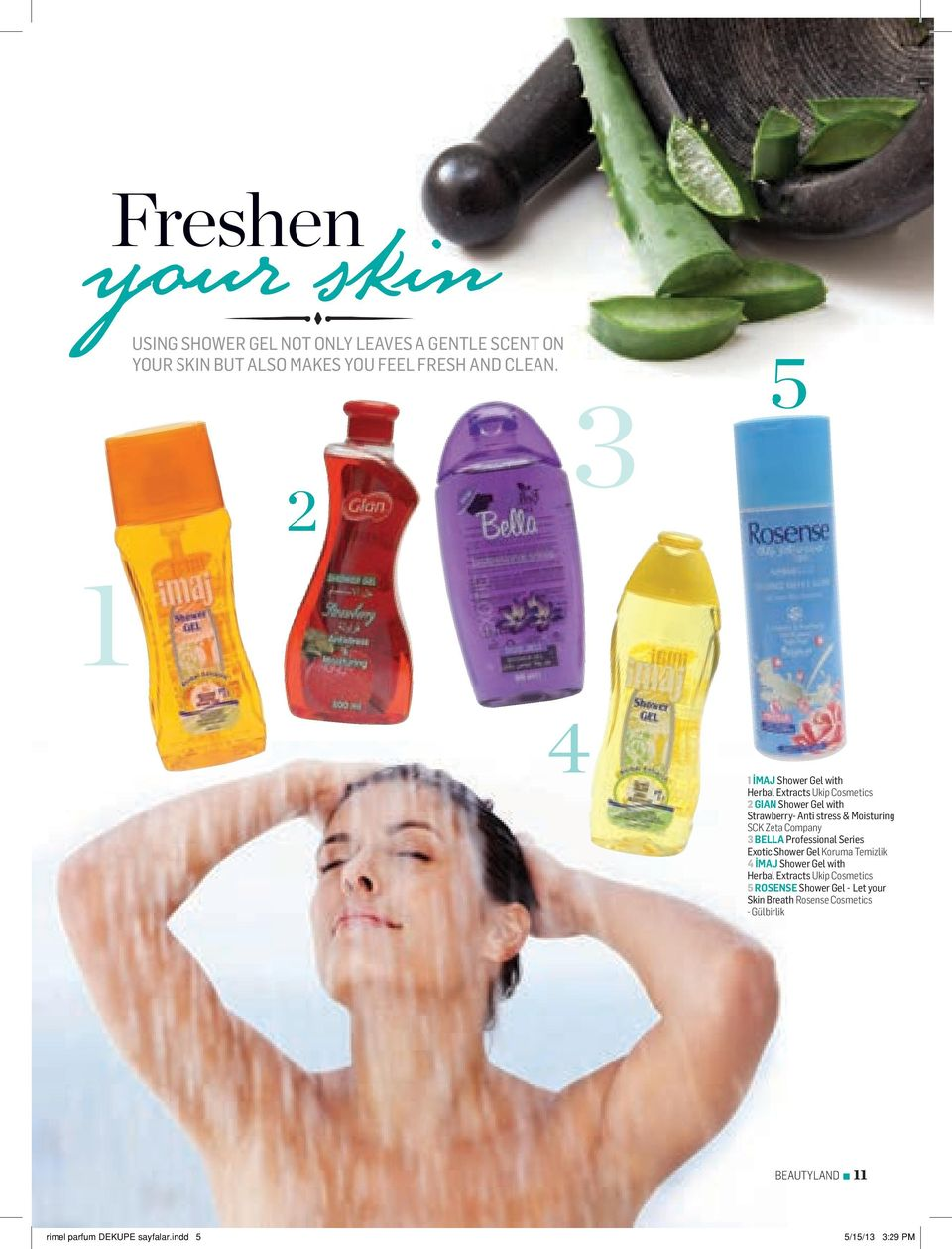 Zeta Company 3 BELLA Professional Series Exotic Shower Gel Koruma Temizlik 4 İMAJ Shower Gel with Herbal Extracts Ukip Cosmetics