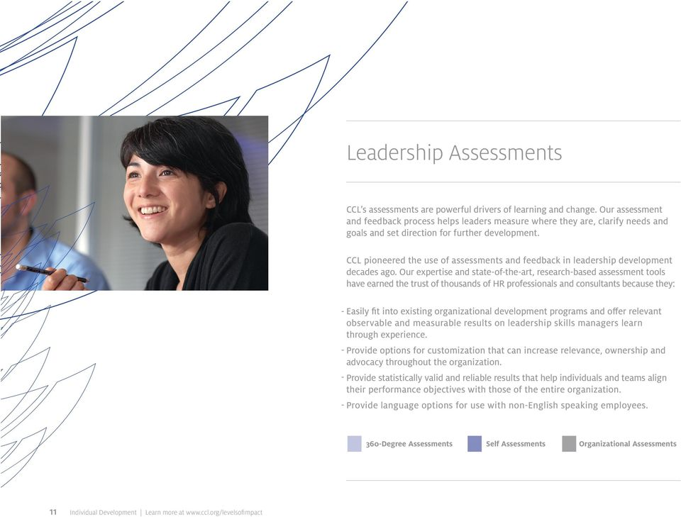 CCL pioneered the use of assessments and feedback in leadership development decades ago.