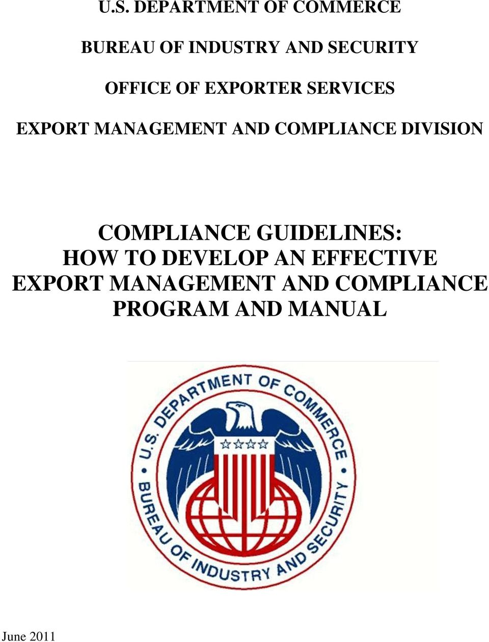 DIVISION COMPLIANCE GUIDELINES: HOW TO DEVELOP AN EFFECTIVE