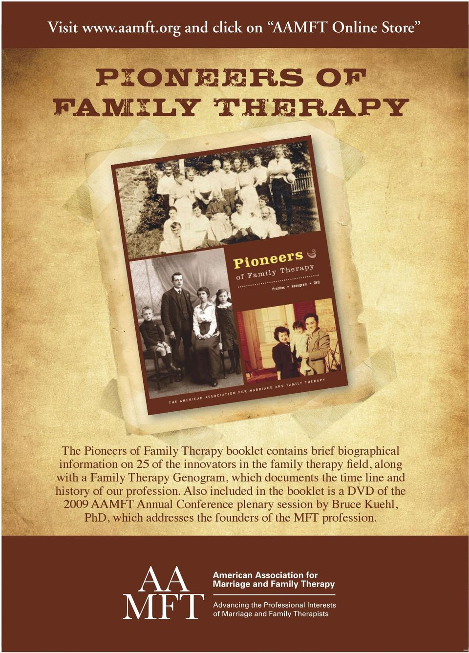 biographical information on 25 of the innovators in the family therapy field, along with a Family Therapy Genogram,
