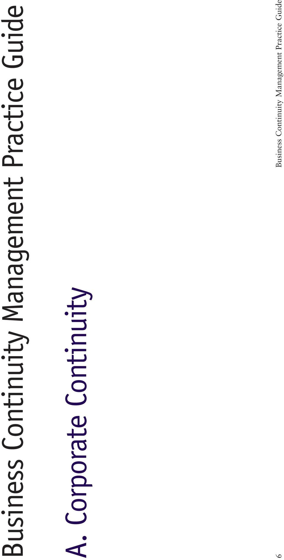 Corporate Continuity 6