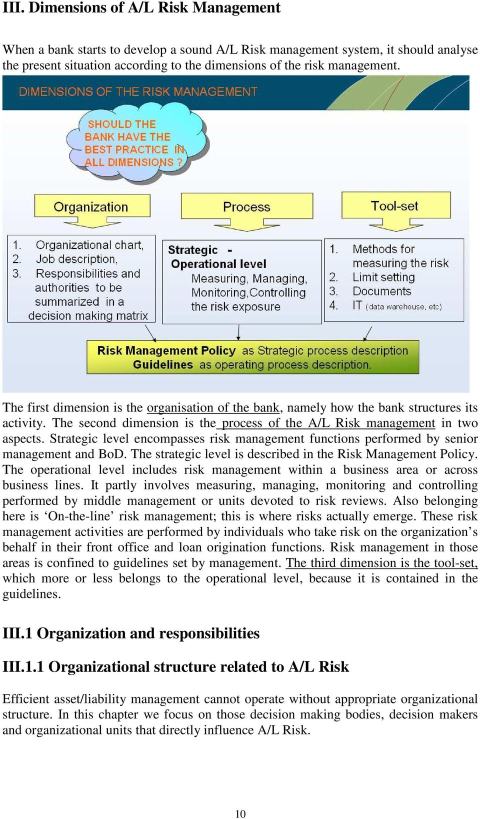 Strategic level encompasses risk management functions performed by senior management and BoD. The strategic level is described in the Risk Management Policy.