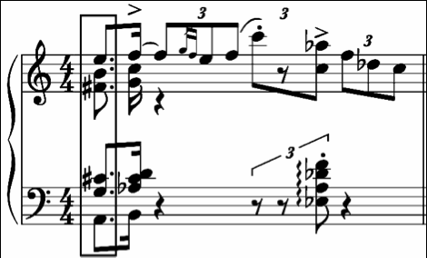 Figure 1. Kapustin, Bagatelle II, m.12 Figure 2. Basie, Lil Darlin, mm.