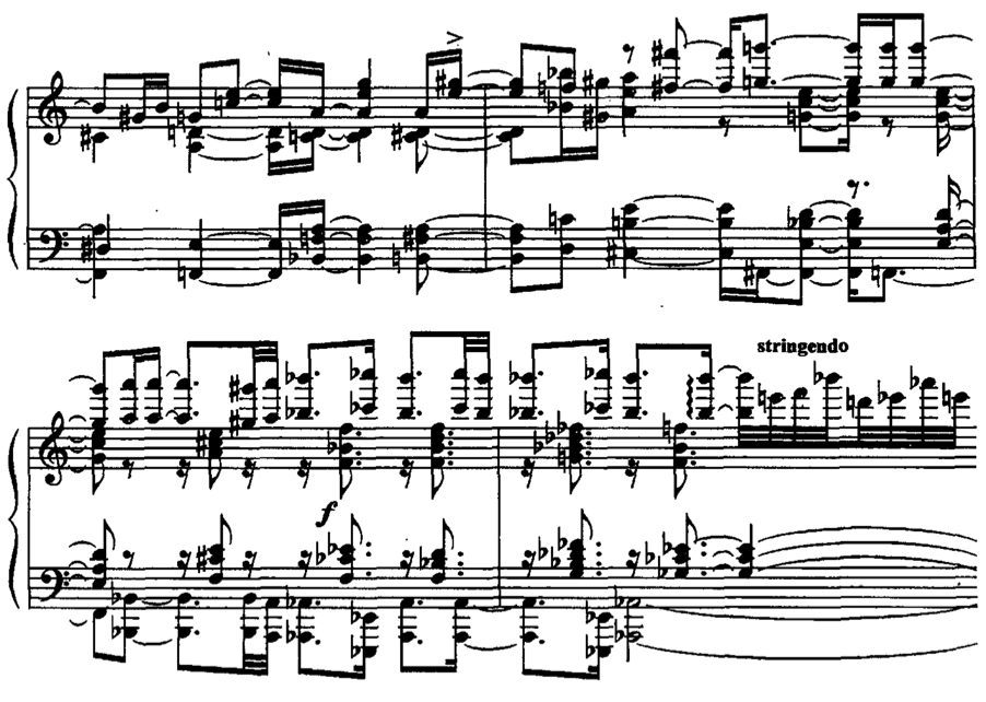 "Figure 68. Kapustin, Bagatelle VI, mm. 82-83 Figure 69. Chopin's ""Revolutionary"" Etude, mm."