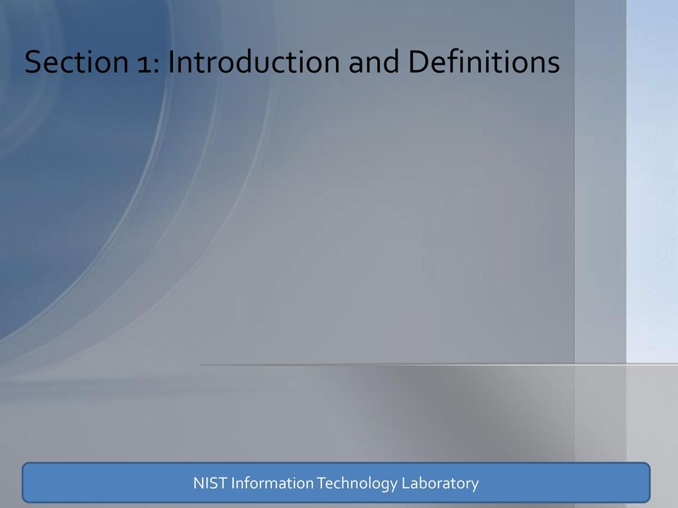 Definitions NIST