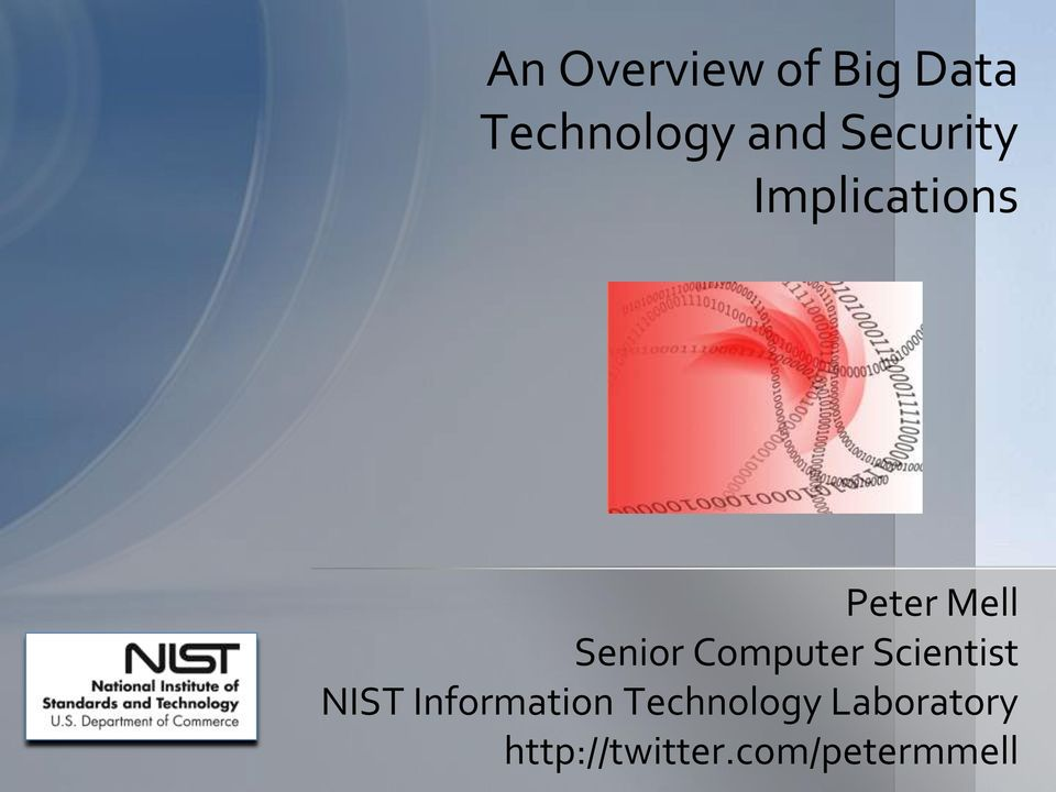 Computer Scientist NIST Information