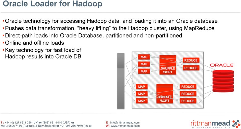 cluster, using MapReduce Direct-path loads into Oracle Database, partitioned and