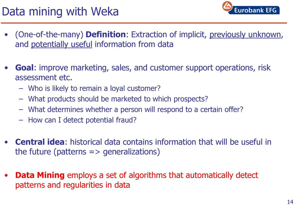 how to use weka for data mining