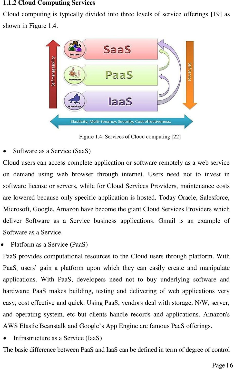 4: Services of Cloud computing [22] Software as a Service (SaaS) Cloud users can access complete application or software remotely as a web service on demand using web browser through internet.