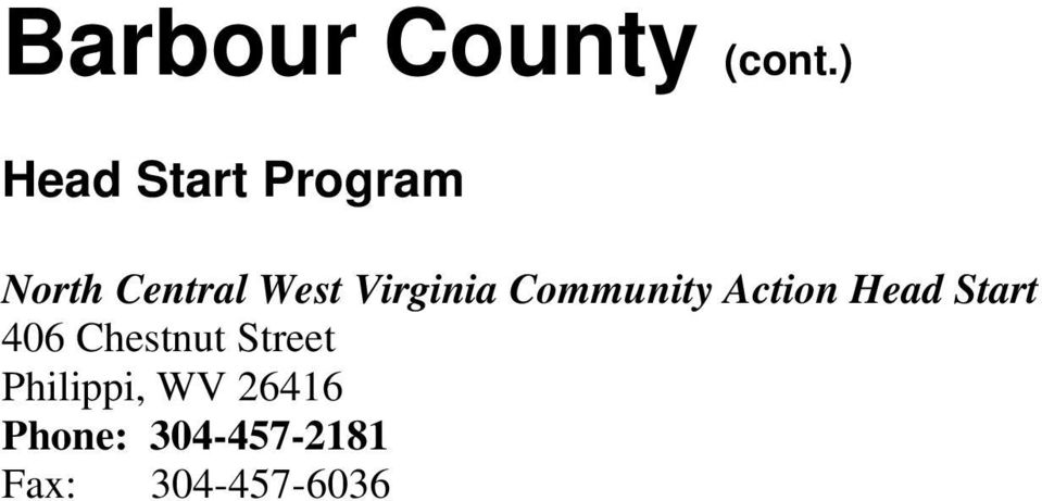 Virginia Community Action Head Start 406