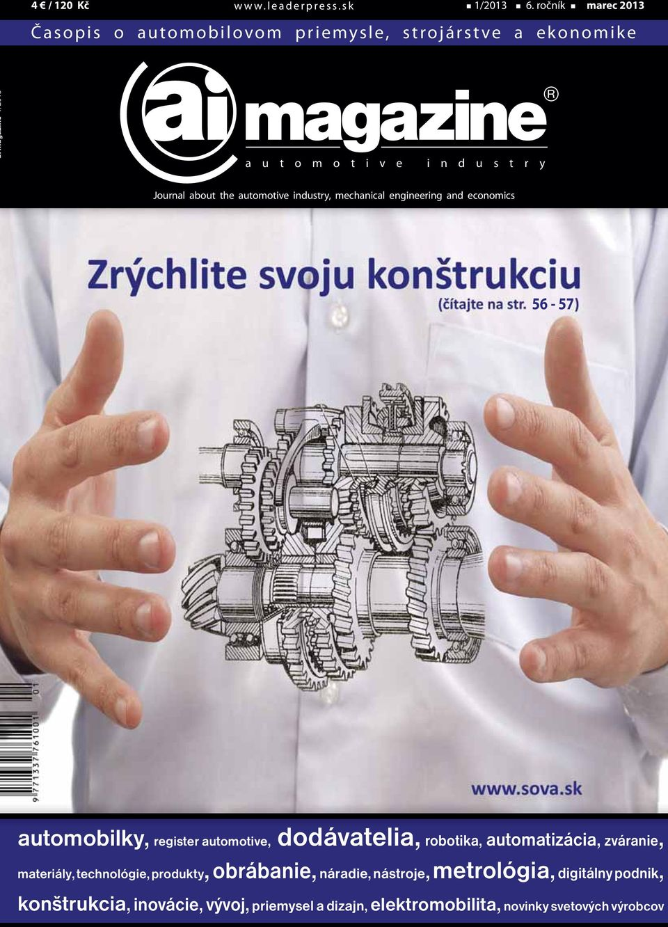 Journal about the automotive industry, mechanical engineering and economics 56-57 automobilky, register automotive, dodávatelia,