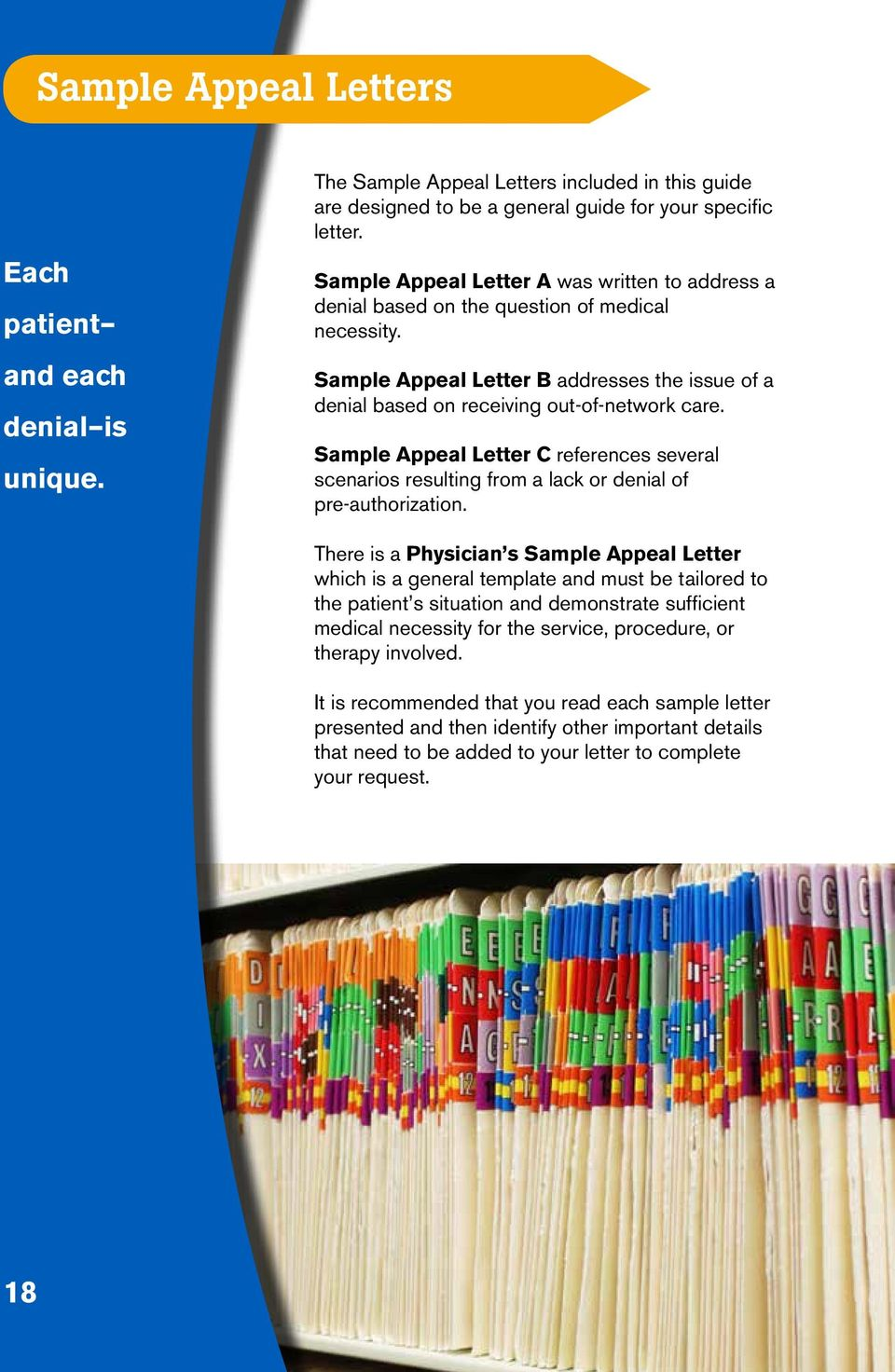 Sample Appeal Letter C references several scenarios resulting from a lack or denial of pre-authorization.
