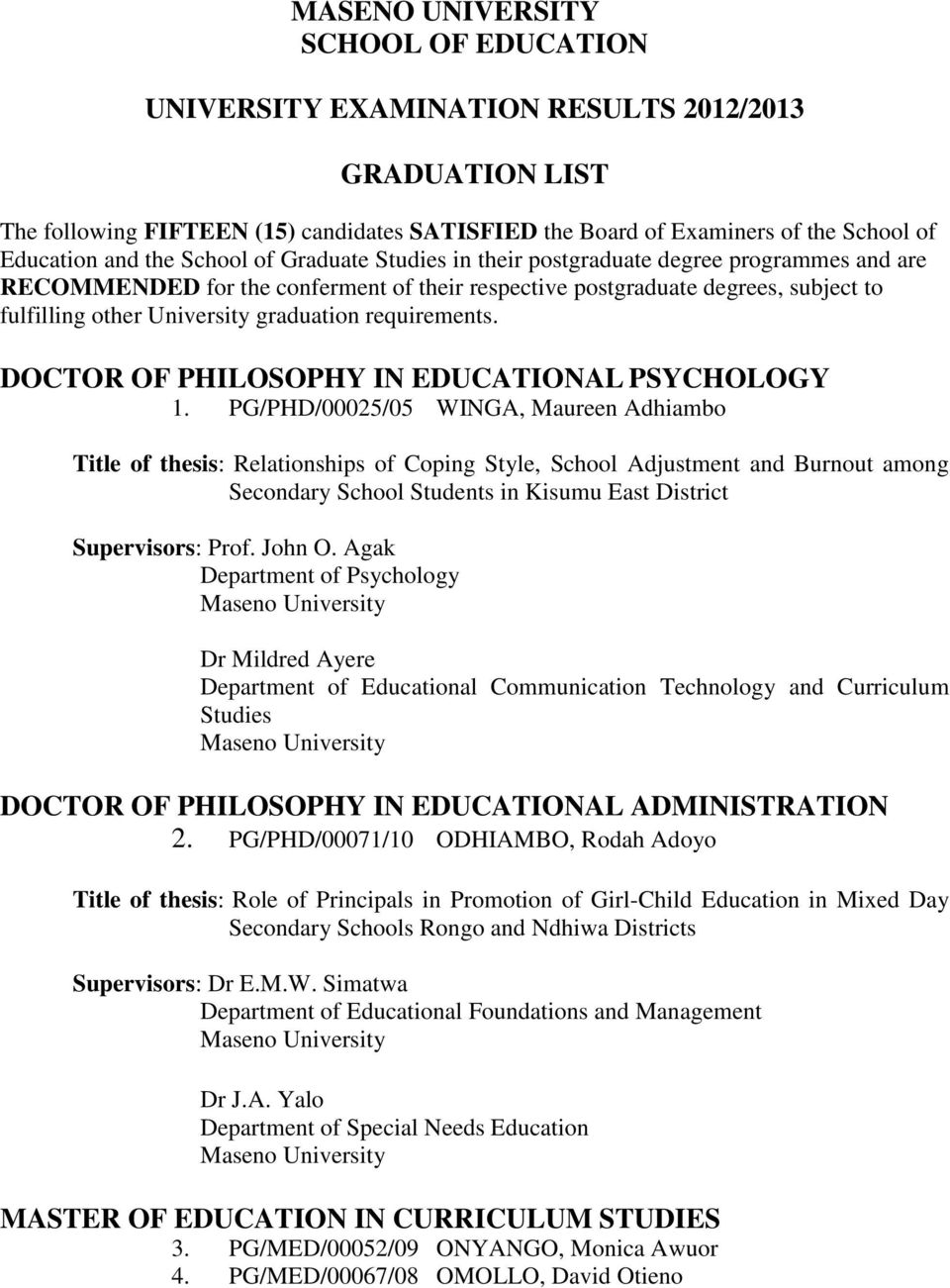 DOCTOR OF PHILOSOPHY IN EDUCATIONAL PSYCHOLOGY 1.
