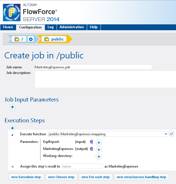 Input and output parameter names in the FlowForce Server job definition correspond to components defined in the original MapForce mapping. From Stylesheets to PXF Altova originally introduced the.