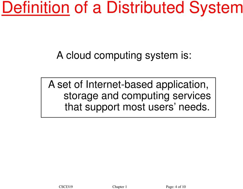 application, storage and computing services that