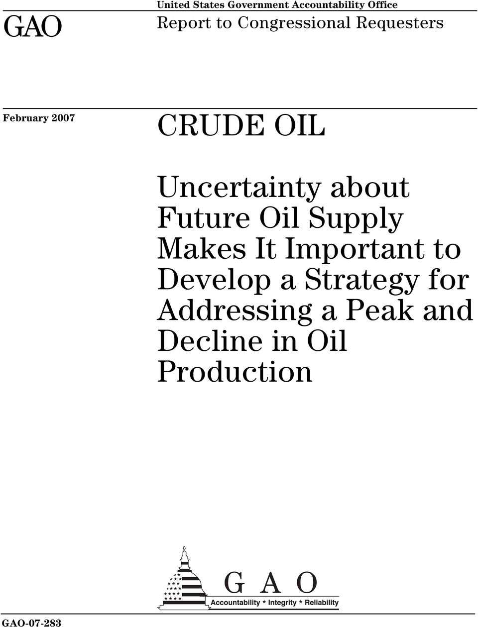 about Future Oil Supply Makes It Important to Develop a