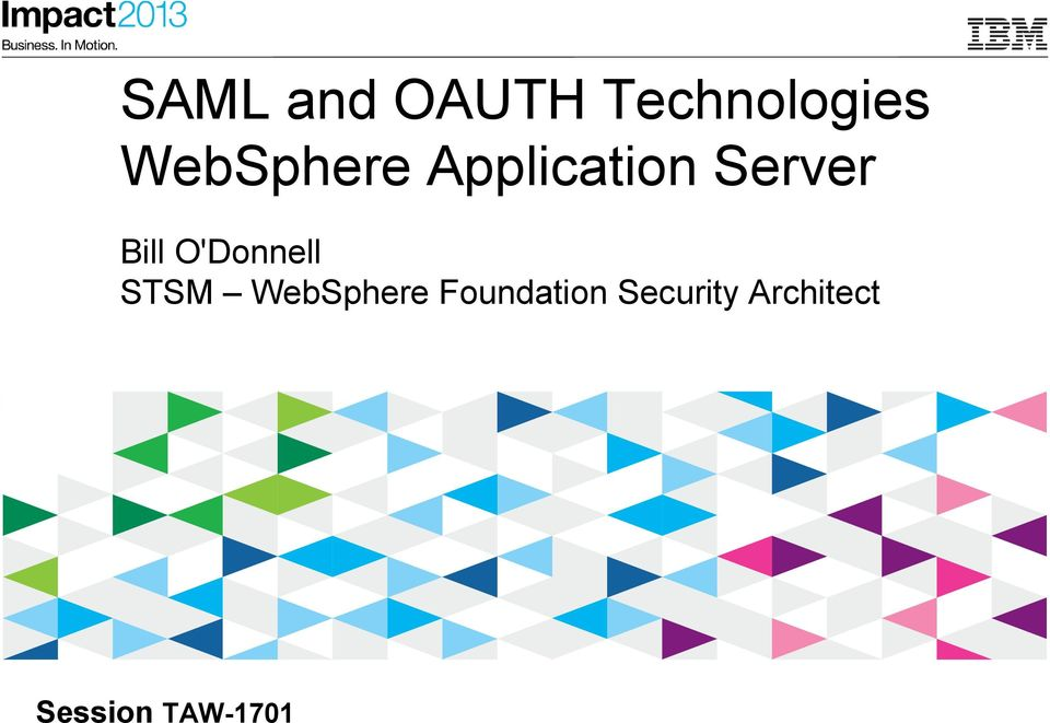STSM WebSphere Foundation Security