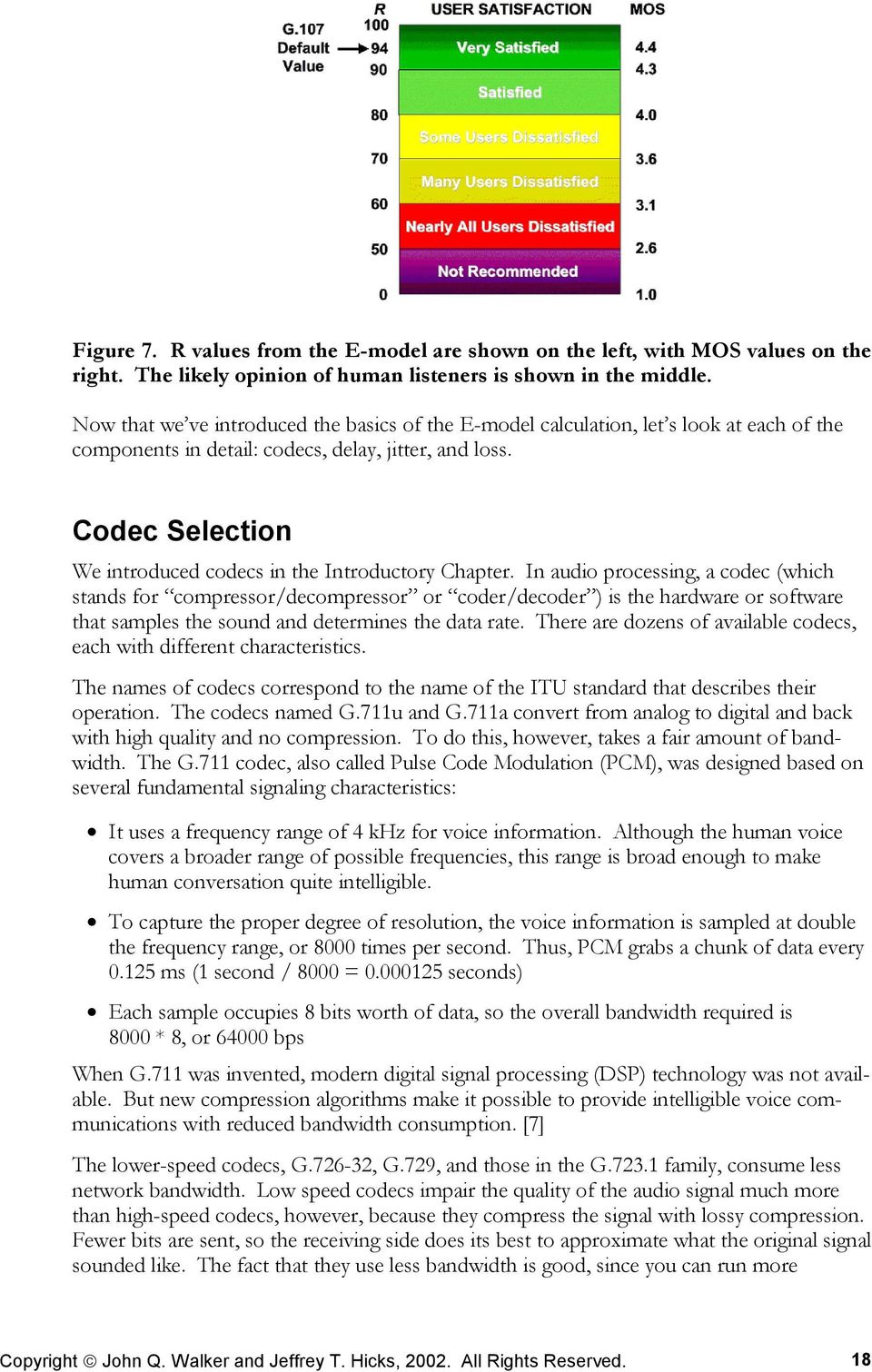 Codec Selection We introduced codecs in the Introductory Chapter.