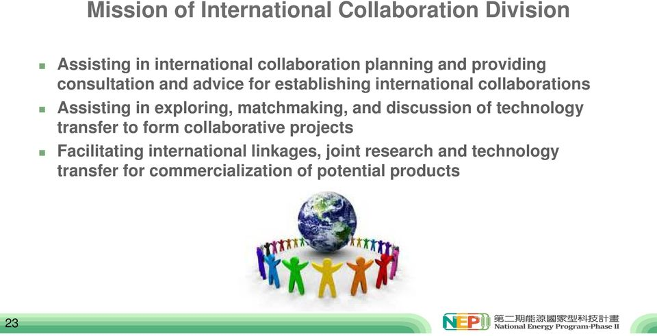 exploring, matchmaking, and discussion of technology transfer to form collaborative projects