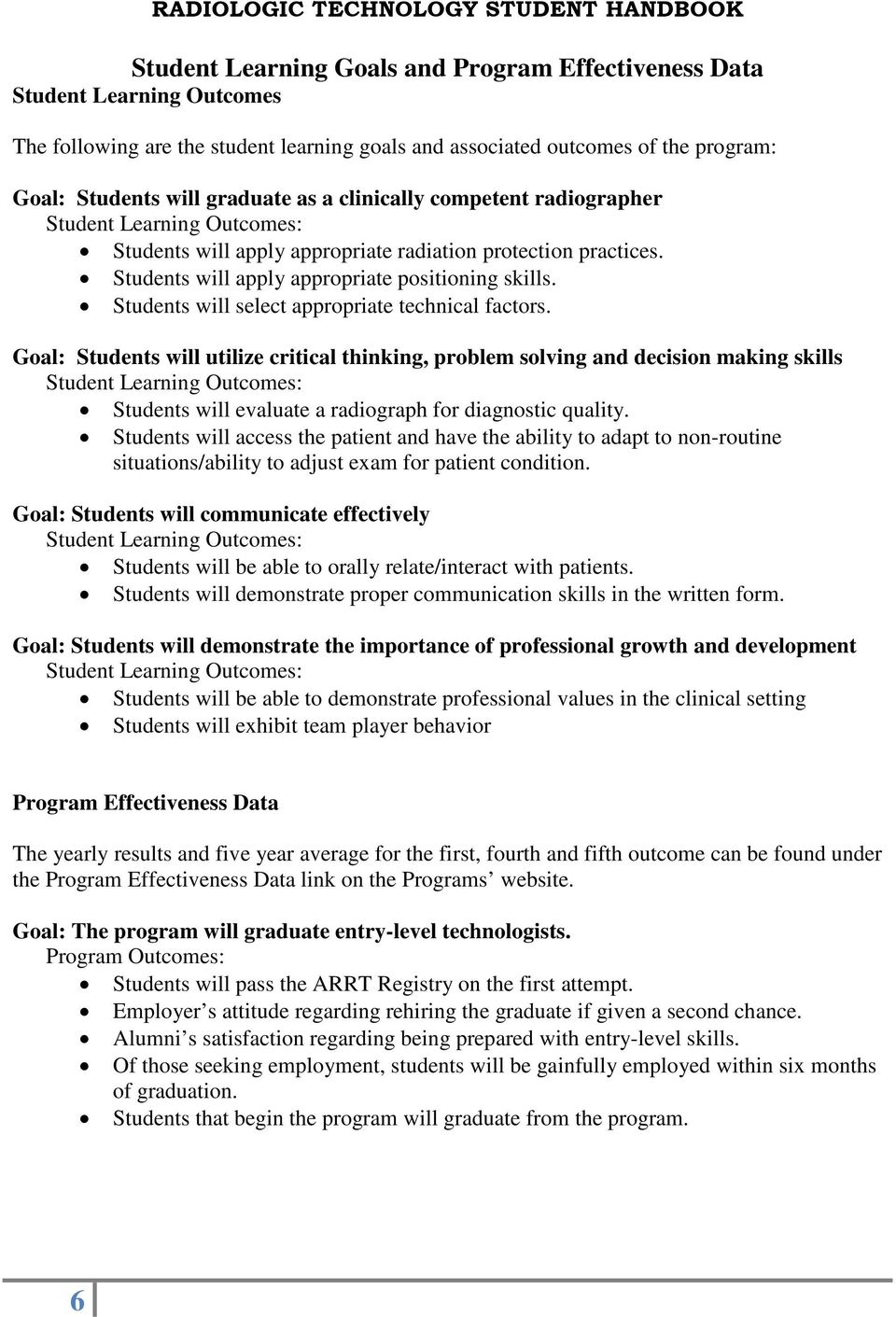 Students will select appropriate technical factors.