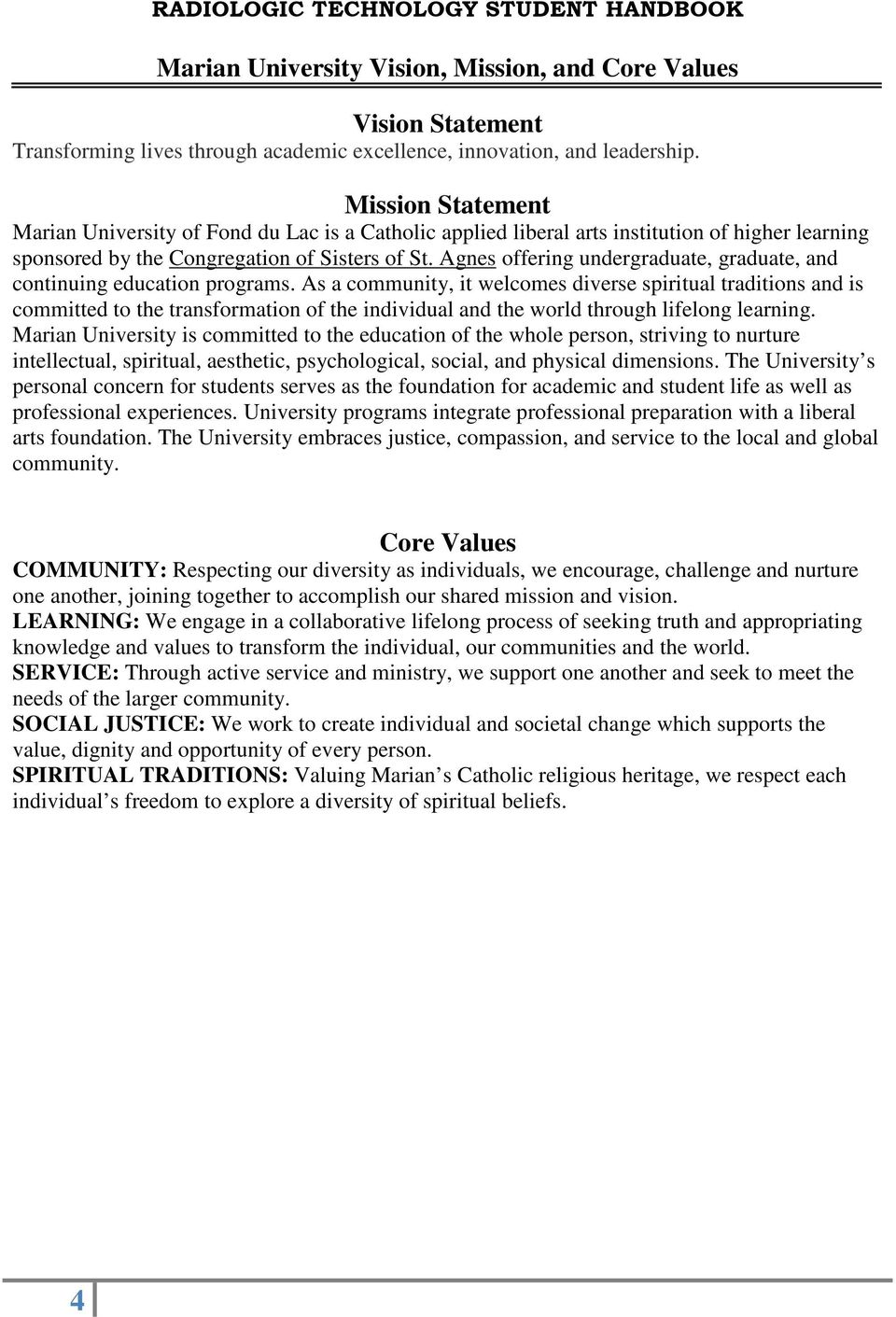 Agnes offering undergraduate, graduate, and continuing education programs.