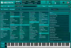 Trilogy s core library includes multisampled acoustic bass, electric bass, and synth bass instruments, and its powerful user interface allows users to create unique custom patches.
