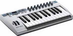 122 USB / MIDI Keyboard Controllers E-MU Xboard 25 featuring a high-quality synth action with velocity-sensitive keys and aftertouch.
