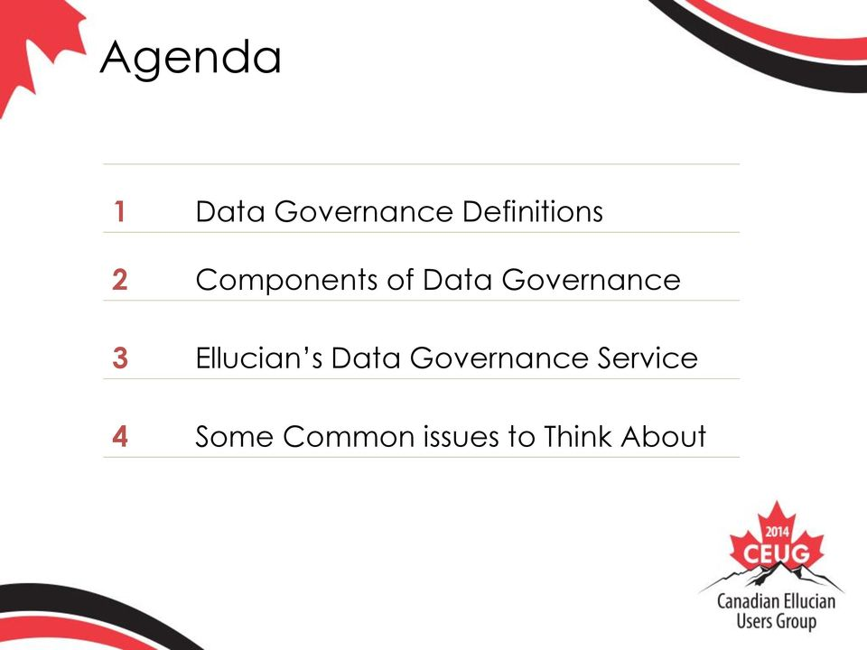 Governance 3 Ellucian s Data