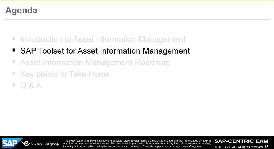 Management Asset Information Management Roadmap