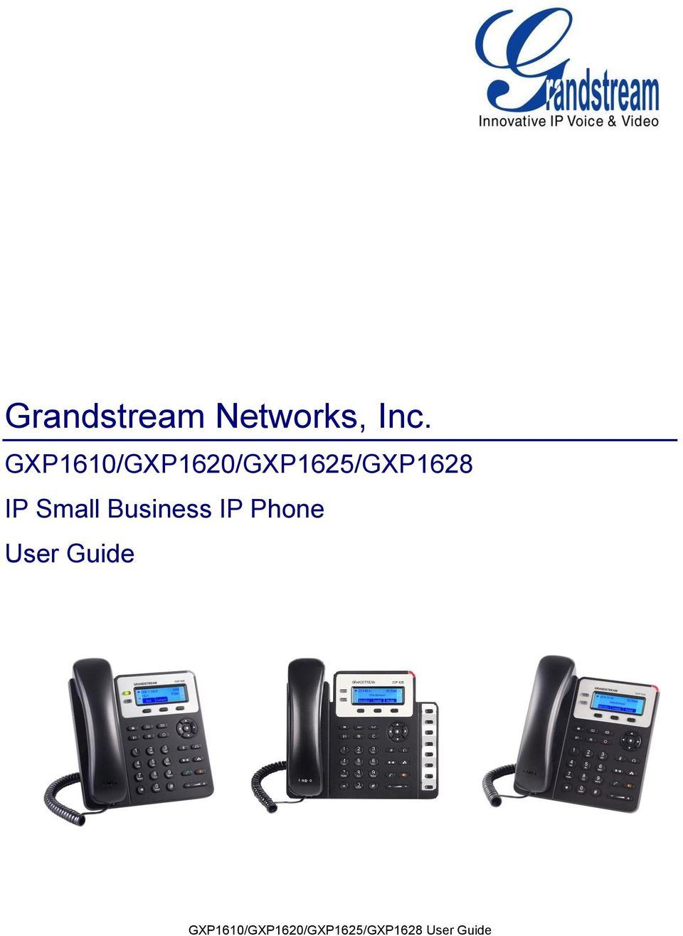 Small Business IP Phone User Guide