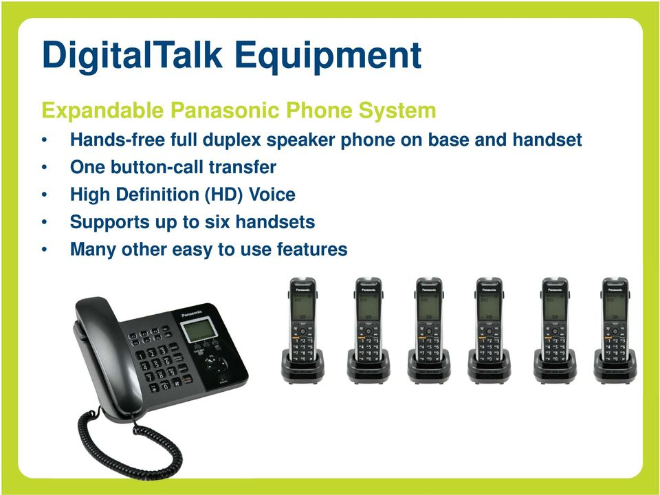 handset One button-call transfer High Definition (HD)